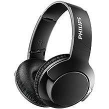 Philips Bass+ SHB3175BK - Auriculares inalambricos (Bluetooth con micrófono, aislantes de Ruido, Plegables
