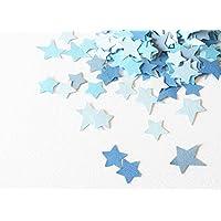 Confeti - papel en forma de estrella - 18,5 g - color azul (totalmente artesanal)