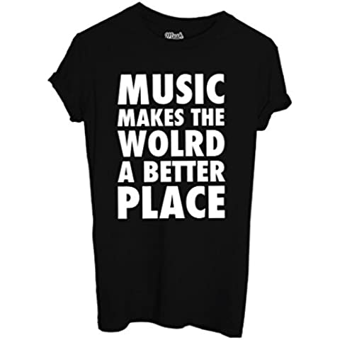 T-Shirt MUSIC MAKES THE WORLD A BETTER PLACE - MUSIC by MUSH Dress Your Style