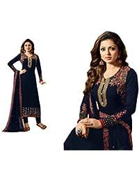 Dealbazaars Women Indo-Western Party Wedding Wear Floor Length Gown/Anarkali Suit/New Arrival Fancy Anarkali FAUX...