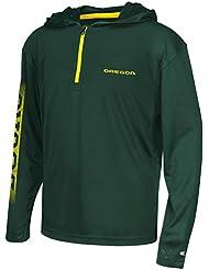"Oregon Ducks Youth NCAA ""Sleet"" 1/4 Zip Pullover Hooded WindShirt Chemise"