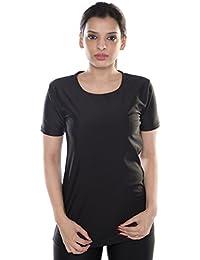 Carrel Nylon Lycra Fabric Women Swimwear T-Shirt (AGSPL-3545)
