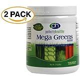 Mega Greens Lot de 2 boites de complément alimentaire en poudre 2 x 225 g