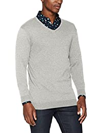 SELECTED HOMME Herren Pullover Shdtower Cot/Silk V-Neck Noos
