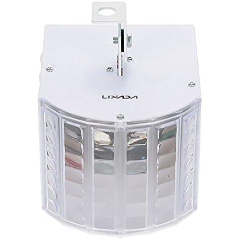 Lixada Mini Luz de Etapa LED Lámpara Iluminación de Efecto de 6 Canales Sonido Activado Funcionamiento Auto para Disco KTV Club Fiesta Boda 30W DMX512