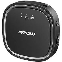 Mpow Transmisor y Receptor Bluetooth, Adaptador Bluetooth 5.0 2 en 1 con AptX Baja Latencia
