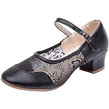 Luckycat Zapatos de Baile/Zapatos Latinos de satén Mujeres Zapatillas de Baile Latino para Mujer