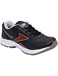 CF_Better Deals Mens Synthetic Mesh Grey Black Coloured Sports Shoe| Running Shoes| Pro Running Shoes| Sprint...