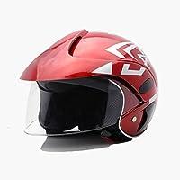 Casco de motocicleta estilo vintage, medio abierto, con capacete; cascos de moto para hombre/mujer con visera; casco de moto de seguridad; casco de escúter; 1 unidad para niños. Colores: azul, rojo, blanco y amarillo.