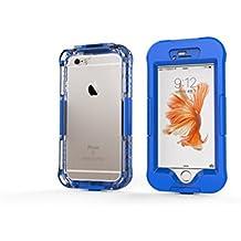 DBIT iPhone 6 Plus Custodia Impermeabile,IP68 Certificato Sigillatura Completa Case Anti-sporco Cover Protettiva Waterproof Impermeabile Antiurto per Apple iPhone 6s Plus,Blu