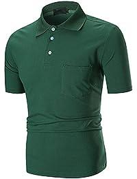 72d9c9eb1046 Klassisches Poloshirt Herren Sommer Slim Fit Polo Kurzarm T Shirt Top  Baumwolle Polohemd Shirt Hemden Freizeithemd