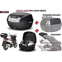 SHAD Kit BAUL Maleta Trasero SH40 litros + FIJACION + Respaldo Pasajero Regalo - Piaggio X8