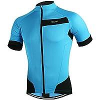 ARSUXEO all'aperto Sport Ciclismo Jersey primavera estate Bike biciclette maniche MTB abbigliamento camicie-blu-L