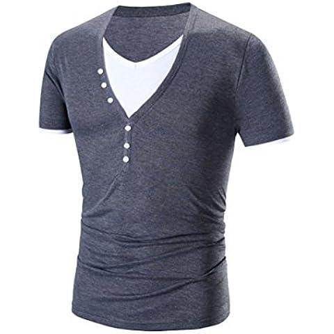 Colde® Moda Slim V-Collo Corto-Manica Uomo Maglietta