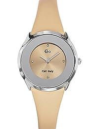 Go Girl Only–698004Damen-Armbanduhr 045J699Analog beige–Armband Leder beige