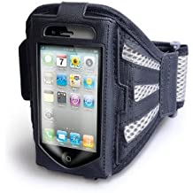Yousave Accessories - Brazalete deportivo para iPhone 4 y 4S, color negro y gris