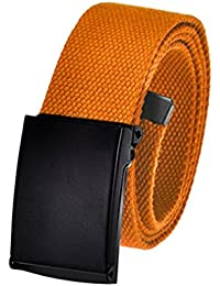 Build A Belt Los hombres de oro Militar/ /Hebilla de cintur/ón con tapa con lienzo Web cintur/ón