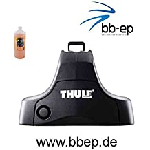 Thule Barre Portatutto in Acciaio 90412303, Sistema completo con serratura per Acura MDX con tetto normale – incl. 1 L kroon Oil Scree nwash