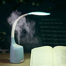 Lámpara de mesa phoewon 2en 1Difusor de aroma humidificador luz 16LED luz de libro flexible, luz de lectura, luz nocturna de 3niveles de mesa, Dormitorio interfaz USB lámpara de mesa para niños, estudiantes estudio, cuidado de los ojos