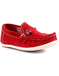 Willy Winkies - Red Color Genuine Leather Shoes-116 - 24