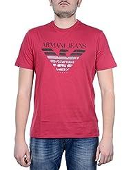 T-shirt stampa città uomo Armani Jeans 3Y6T35-6JPFZ 1477 corallo