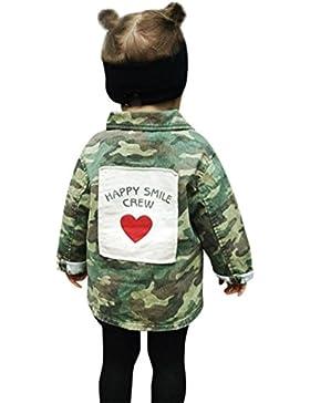 Babykleidung,Sannysis Baby Mädchen Junge Camouflage Letter Denim Mantel Umhangjacke Dicke Kleidung 2-6Jahre (80...