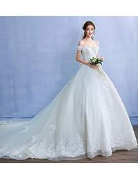 WFL Vestido de Novia de un Solo Hombro detrás de la Novia Coreana de Lujo Gran Corte de Princesa de Primavera…