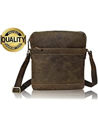 Natural Rustic Leather Satchel Bags In Vintage Leather By Tony`S Bag