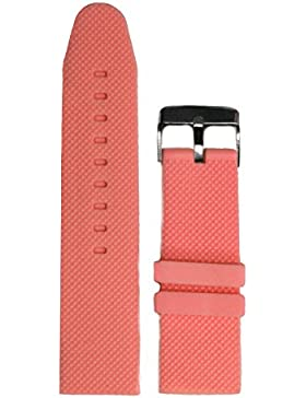 26mm Light Pink Farbe Silikon Jelly Gummi Damen-Armbanduhr Band Riemen wb1062p26jb