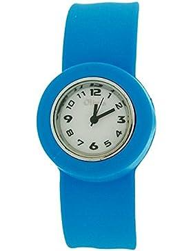 Blaue Slap Kinderuhr mit Armband