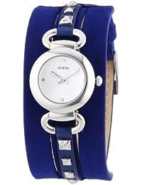 Guess W0160L3 - Reloj analógico de cuarzo para mujer con correa de piel, color azul