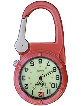 Entino-Marken-Silber-Clip auf Orange Karabiner-leuchtendes Gesicht Starke FOB-Uhr Ärzte Krankenschwestern Sanitäter-Köche...