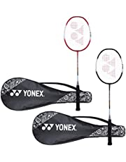 Yonex ZR 100 Light Aluminum Blend Badminton Racquet with Full Cover, Set of 2