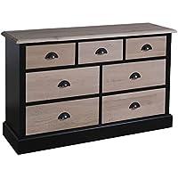 Comparador de precios Casa-Padrino Country Style Sideboard Black/Natural Colors 122 x 38 x H. 75 cm - Furniture in Country Style - precios baratos