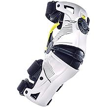 Mobius rodillera X8, color blanco/amarillo, talla XS