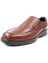 Zapatos Hombre Tipo Mocasin FLUCHOS, Piel Color Brandy - 9144-62c