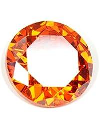 55Carat Cubic Zircon Stone 5 Ratti Certified Round Jarkan Loose Gemstone Red