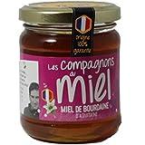 Les Compagnons du Miel - Miel de Bourdaine d'Aquitaine - Pot verre 250g - Liquide