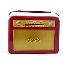 Caja de Metal Diseño Radio Vintage