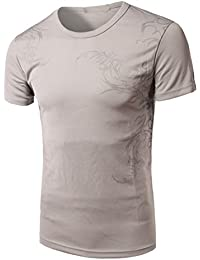 Mens Short Sleeve Shirts,Moonuy,Mens Shirts Casual,Boy Men Personality Workout Fitness Winetr Autumn Summer T-Shirt Casual Fashion Handsome Stylish T-Shirt Tops Blouse Pullover For Men