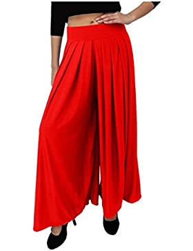 Indian Handicrfats Export Dolce Divaa Flared Women's Red Trousers