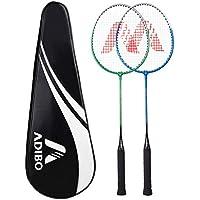 Adibo Professional Badminton Racket Set, Durable Badminton Racquet with a Bag Cover