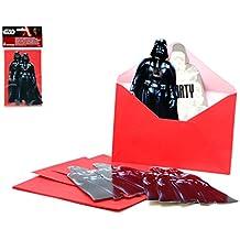 2 juegos de 6 invitaciones+sobres c/u (total 12) diseño Star Wars