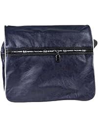 Maletín hombre SERGIO TACCHINI azul Bolsa con solapa messenger + bandolera F440