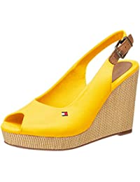 Tommy Hilfiger Iconic Elena Sling Back Wedge, Sandalias con Punta Abierta para Mujer