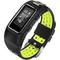 YSCYLY Rastreador de Ejercicios Bluetooth Pulsera Inteligente GPS Podómetro Impermeable Frecuencia cardíaca Monitor de presión Arterial