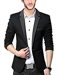 Bregeo Fashion Black Blazer With Grey Lapel-2 Colours