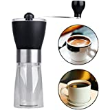 Generic Manual Coffee Grinder Washable Double-layer Heat Insulation Grind Home Kitchen Mini Manual Hand Coffee Mill Grinder Ceramic Mill