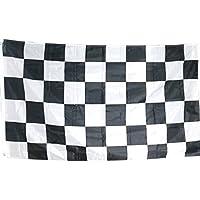 TRIXES Bandera Grande a Cuadros Blancos y Negros Carrera Autos F1-5 pies x 3 pies