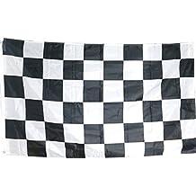 TRIXES Bandera Grande a Cuadros Blancos y Negros Carrera Autos F1 - 5 pies x 3 pies